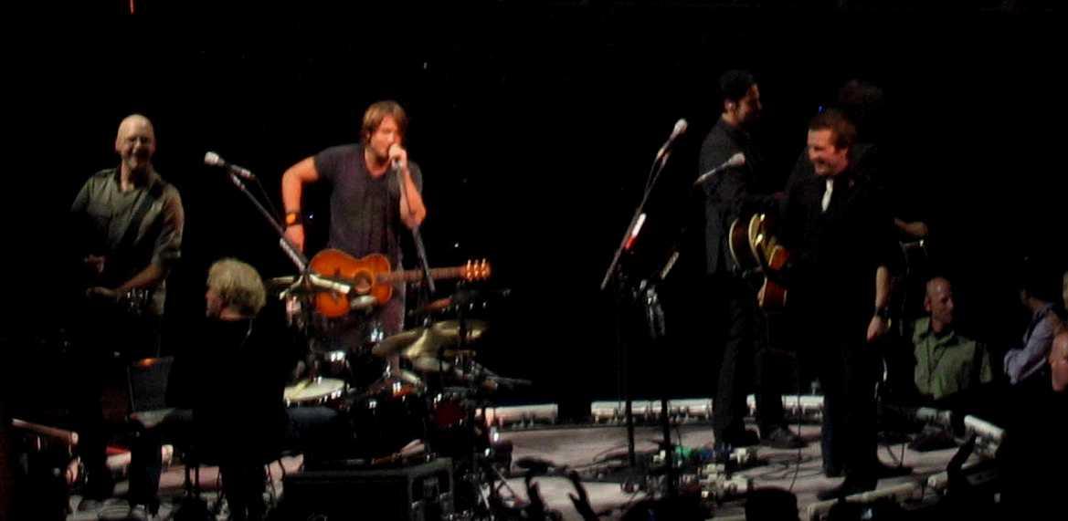 Keith Urban on the Circular Stage