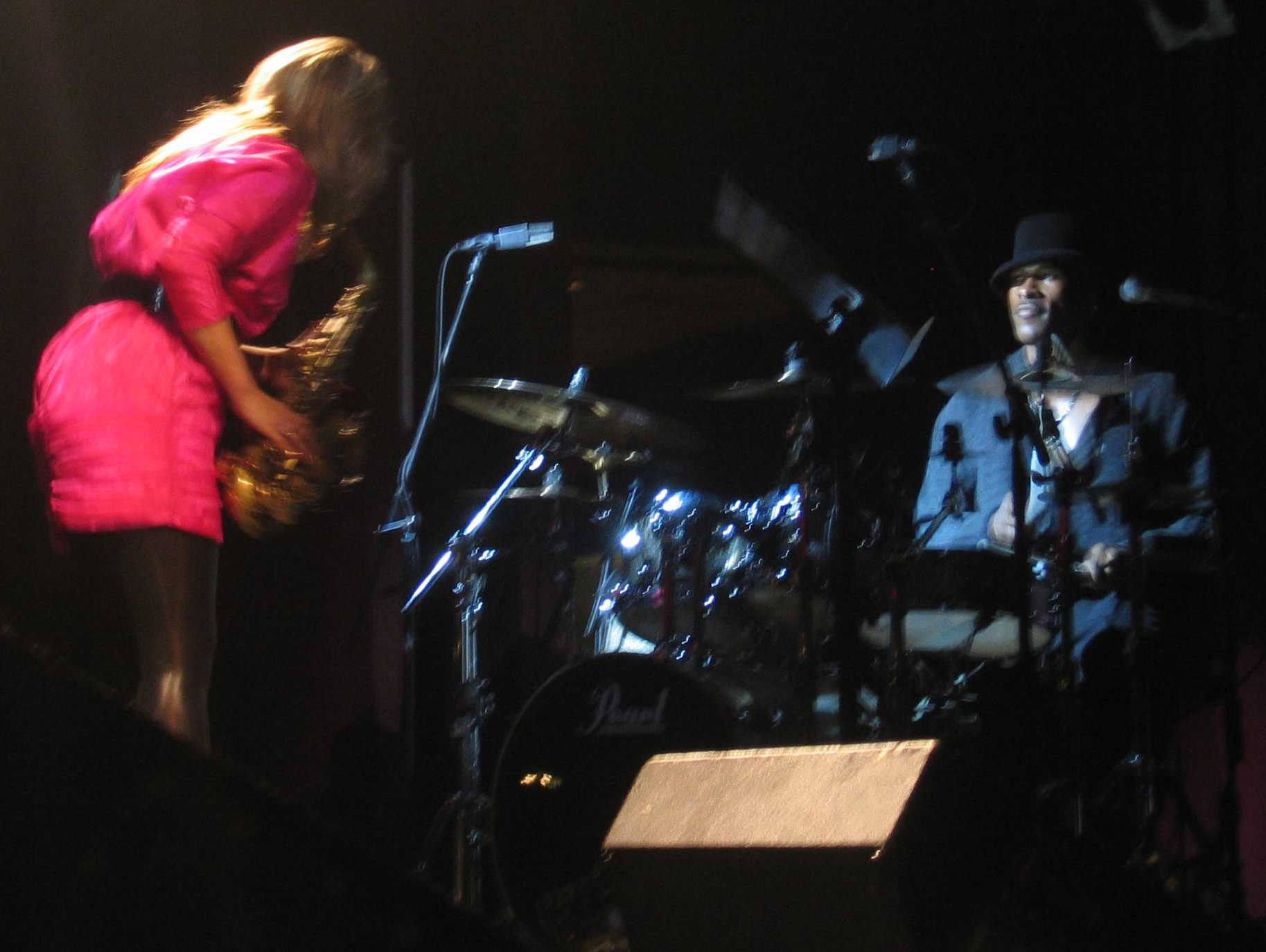 Kirk Johnson and Candy Dulfer