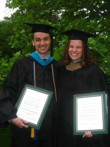 Chris and Laura Diplomas