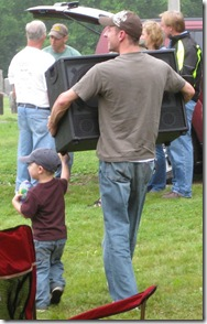 Helping Dad Carry the Amp