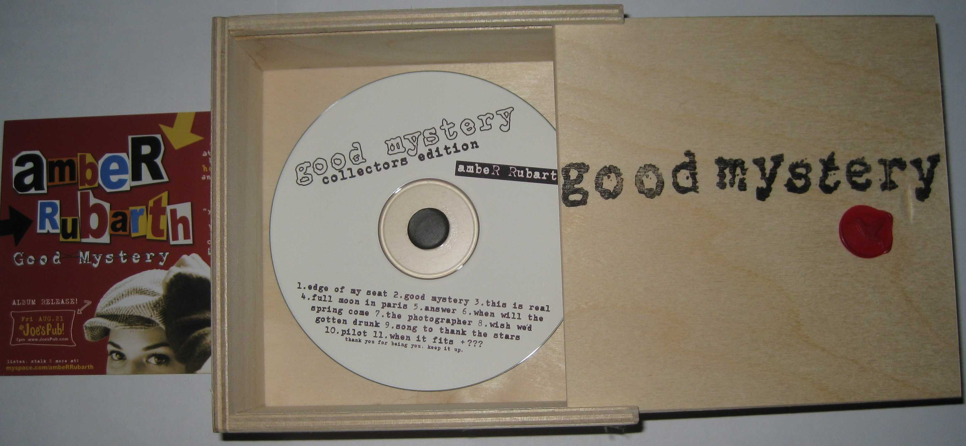 Amber Rubarth Good Mystery Collectors Edition CD Package